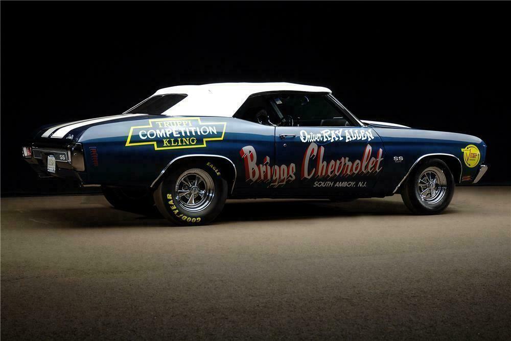 1970 CHEVROLET CHEVELLE LS6 CONVERTIBLE Rear 3/4