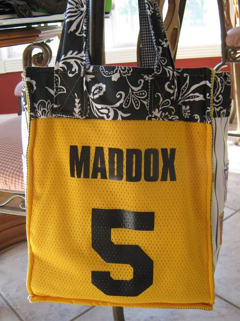 For the LOVE of Baseball Mom s Bag made from old jerseys and pants ... cbd04a097