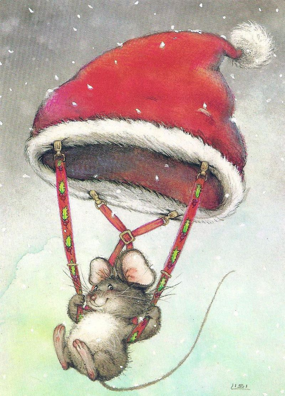 новогодняя открытка крыса самые
