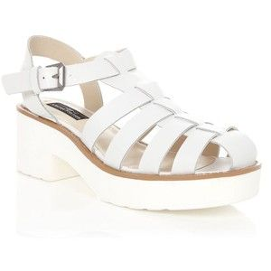 6f68e9a16 Limited White Leather Chunky Gladiator Sandals New Look £39.99 Shoe  Gallery