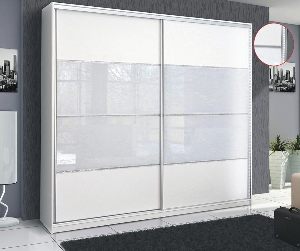 Rome White Sliding Door Wardrobe Wardrobes Pinterest White
