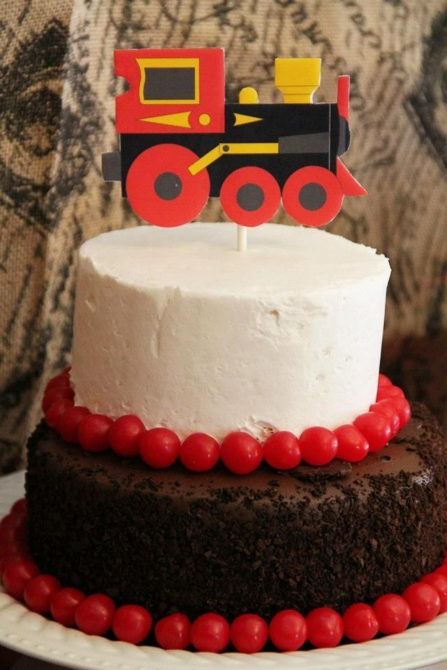 Boys Vintage Train Party Cake Spaceshipsandlaserbeams