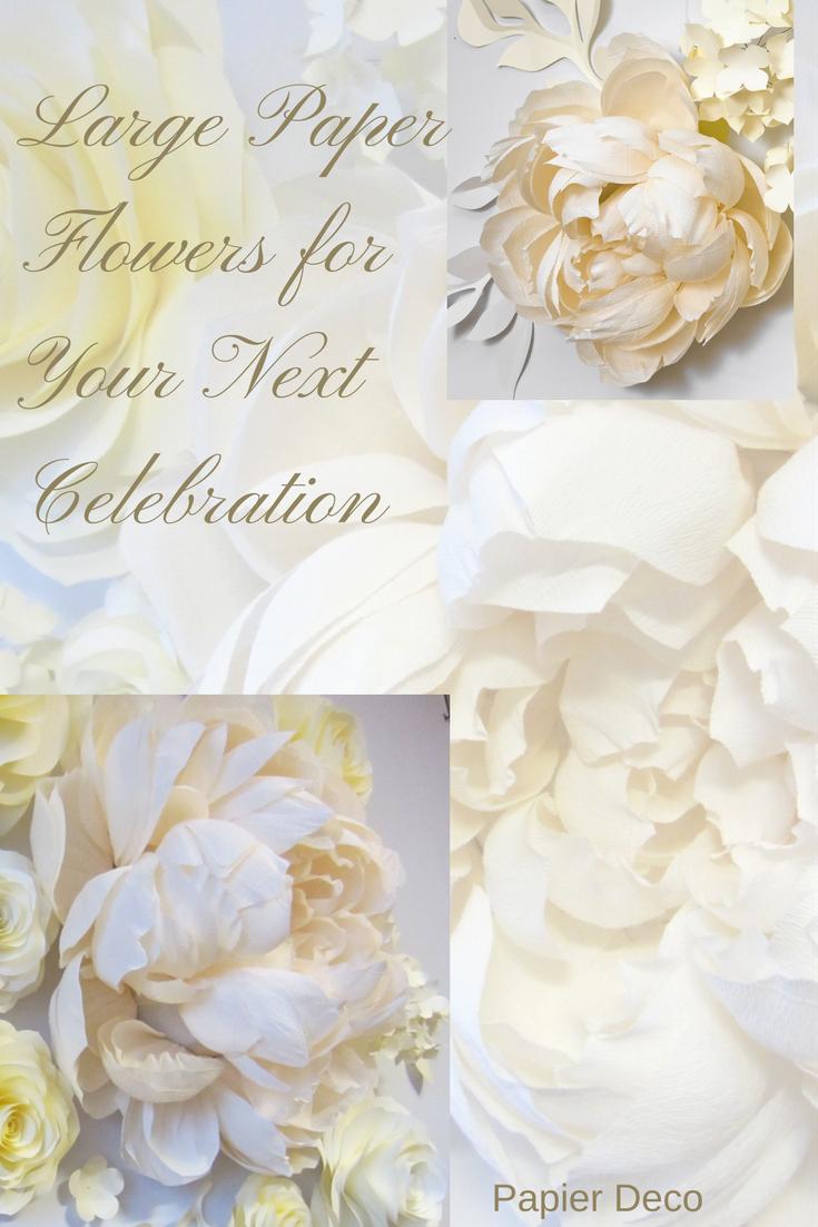 Wedding Backdrop of Crepe Paper Flowers Large Paper Flowers Crepe