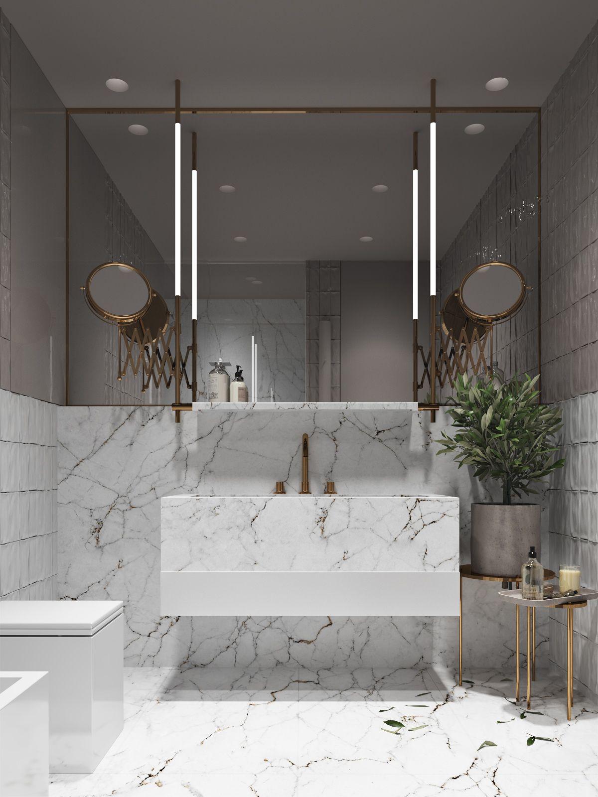 Using Gold Accents In Interior Design Bathroom Interior