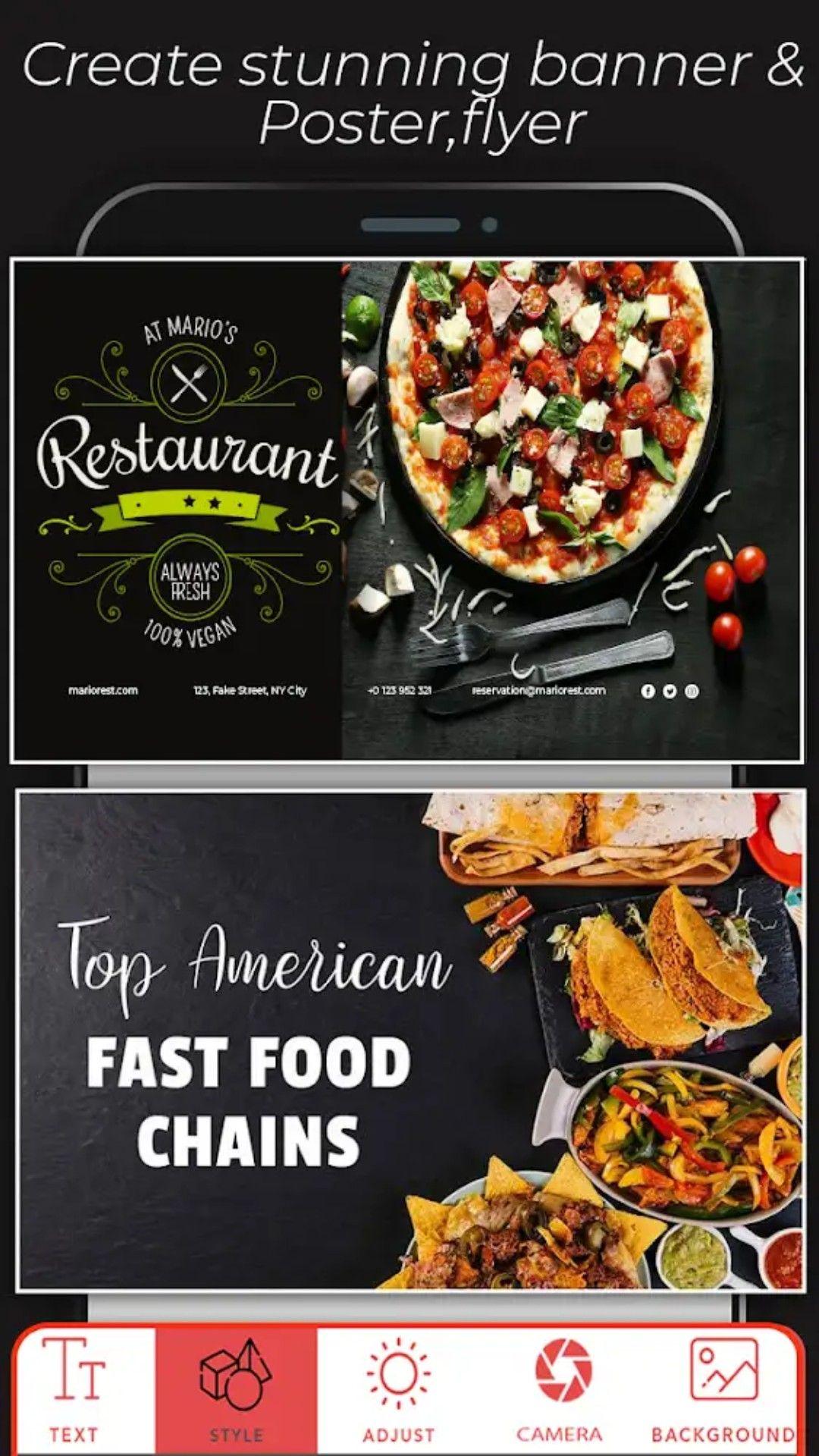 fast food sign generator