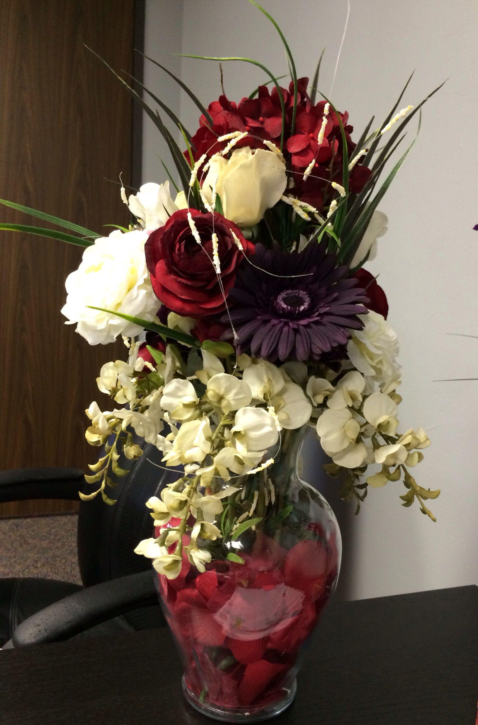 Silk Flower Arrangement To Brighten Office Crafts Pinterest