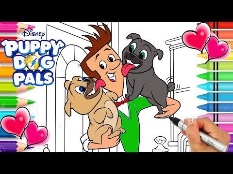 Puppy Dog Pals Coloring Page Free Printable Bingo Rolly And Bob