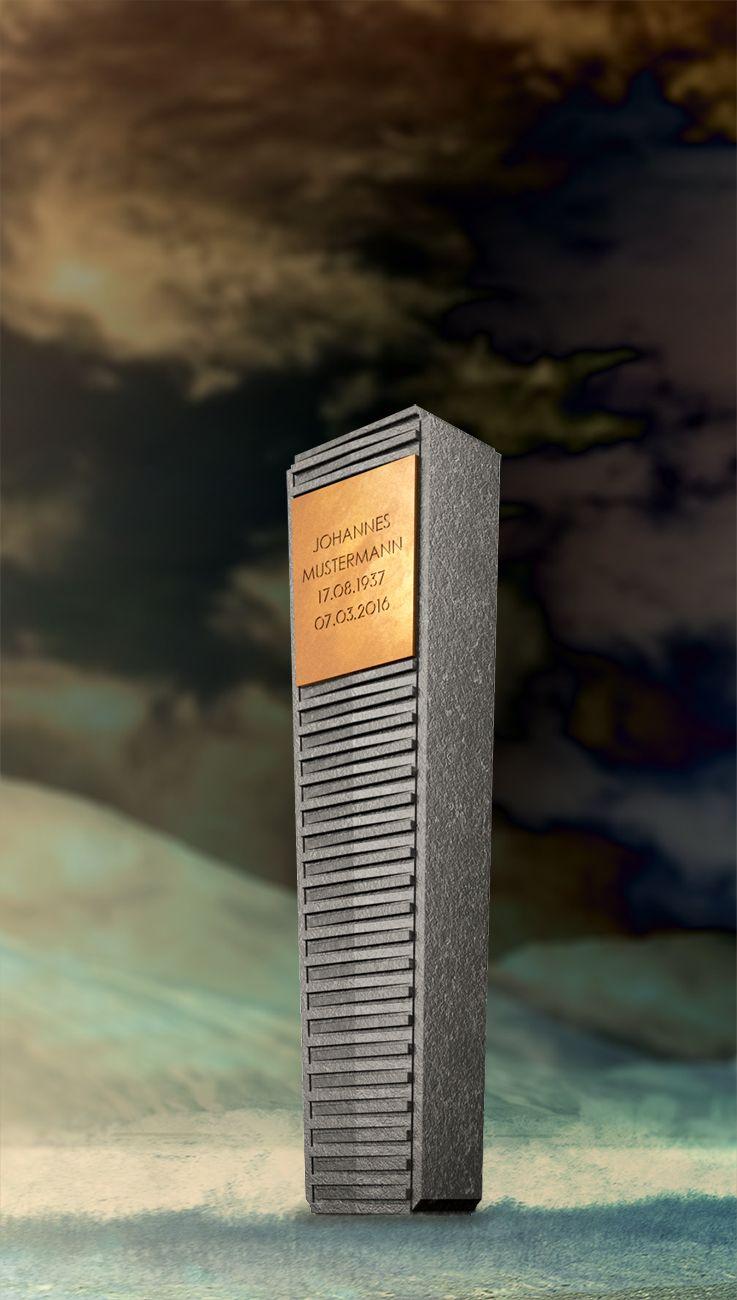 Großartig Klepfer Naturstein Beste Wahl Grabstein Stele Concept Ds-o5 | Granit Nero