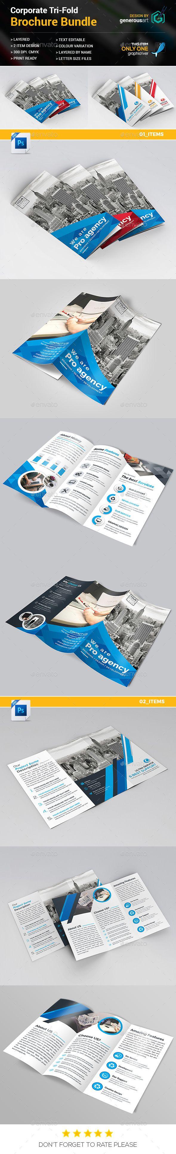 Tri Fold Bundle 2 In 1 Tri Fold Brochures And Brochure Template