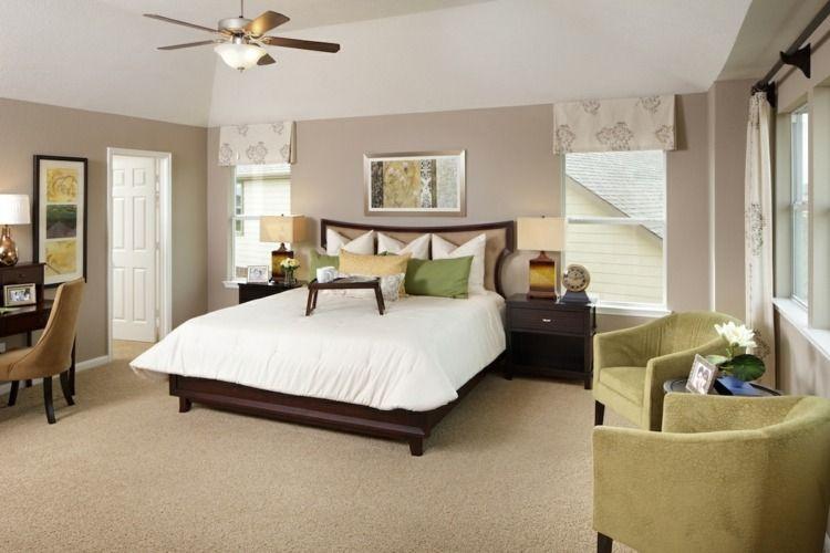 Kombinieren Sie Farben, um das Schlafzimmer zu dekorieren ...