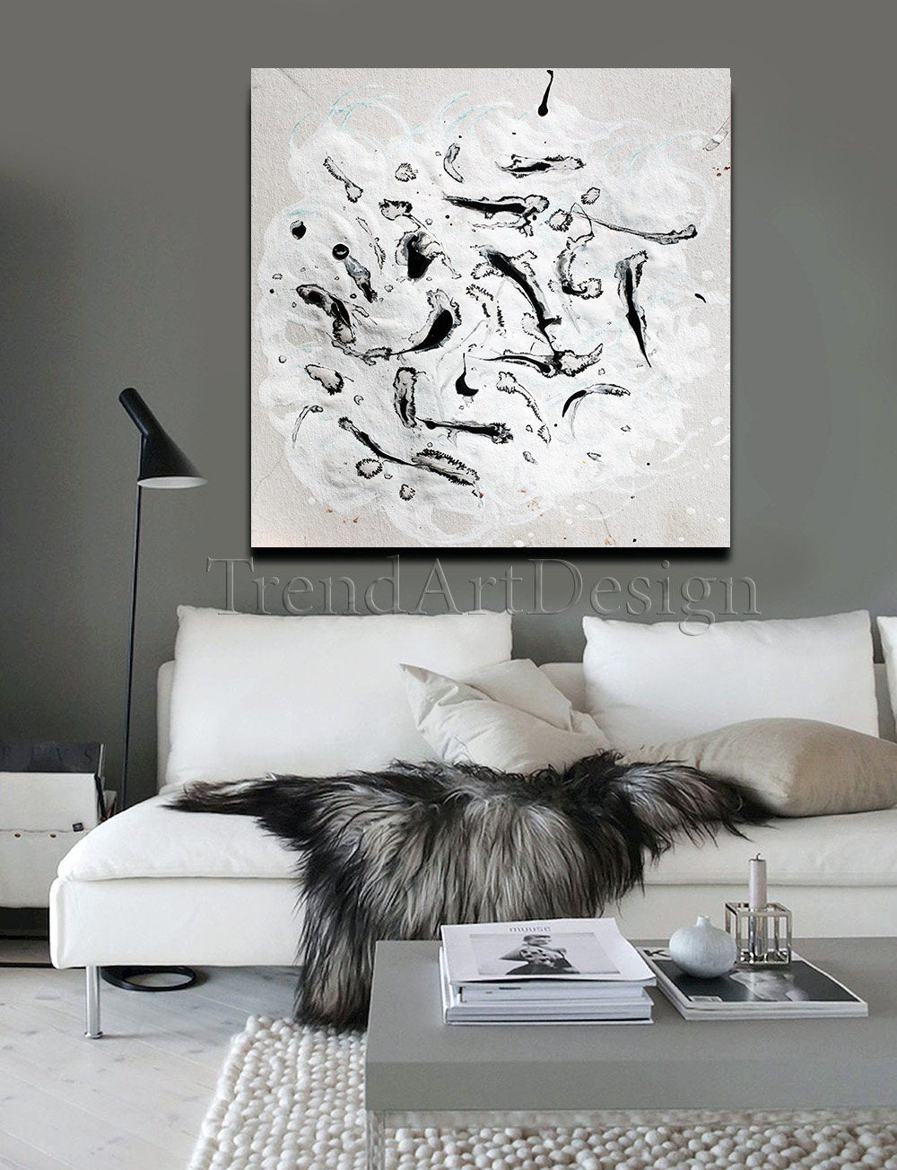 40 Black White Painting Abstract Wall Art Canvas Print Minimalist Art For Modern Living Room Office Trend Wall Decor Minimalist Art Abstract Wall Art White Painting