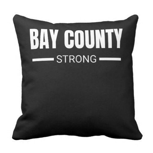 Bay County Strong Hurricane Michael Florida Throw Pillow  					 			  		 			 $33.25  			 by  PositiveAtmosphere