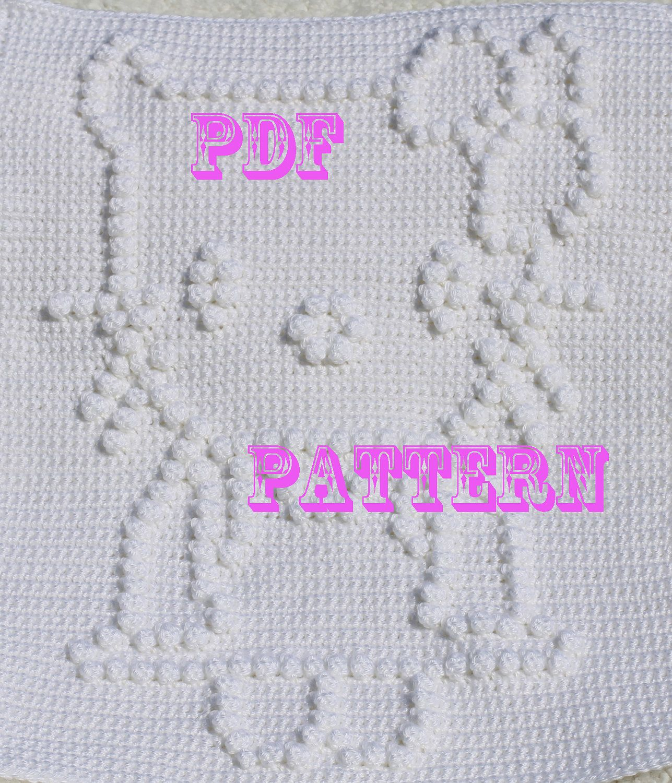 Crochet Pattern - Crochet Baby Blanket - Baby Snuggle Blanket ...