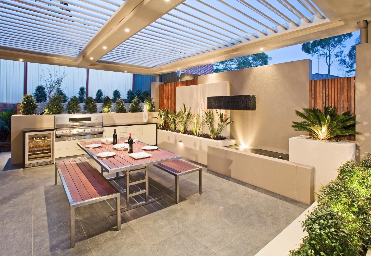 Outdoor entertaining area. Project by COS Design ... on Small Backyard Entertainment Area Ideas id=22880