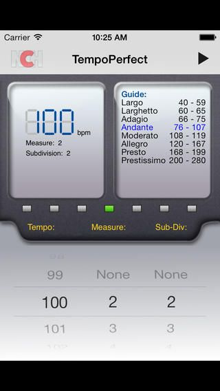 TempoPerfect is free metronome software for keeping a