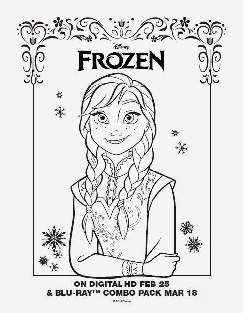 heres the anna coloring sheet we liked best click the picture for more disney frozen party ideas from the pixie dust posse