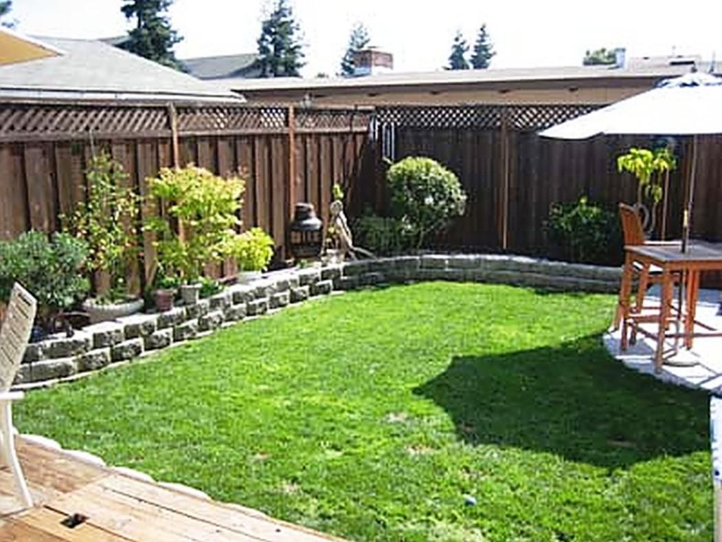 Image of: Simple Small Backyard Ideas