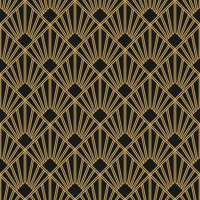 Art Deco seamless vintage wallpaper pattern Washable Wall Mural • Pixers® - We live to change