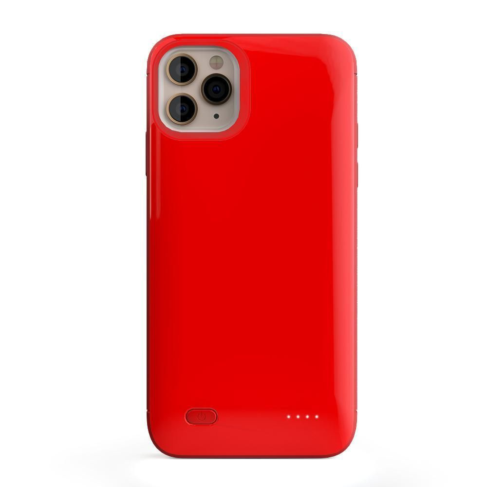 Solid Red Battery-Powered Charging Case