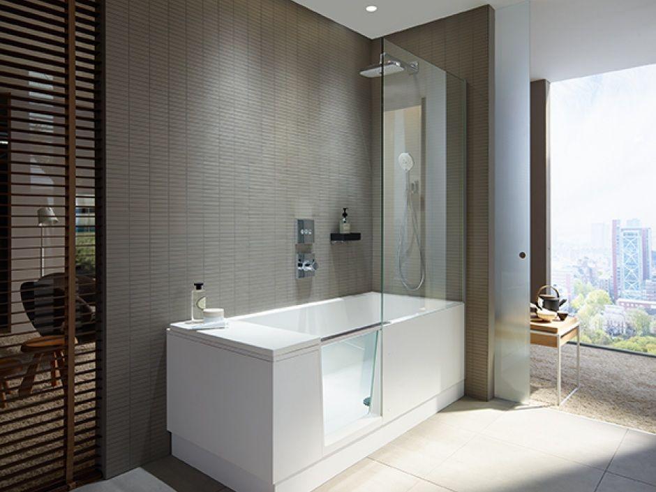Duravit WalkIn Dusche und Badewanne in einem