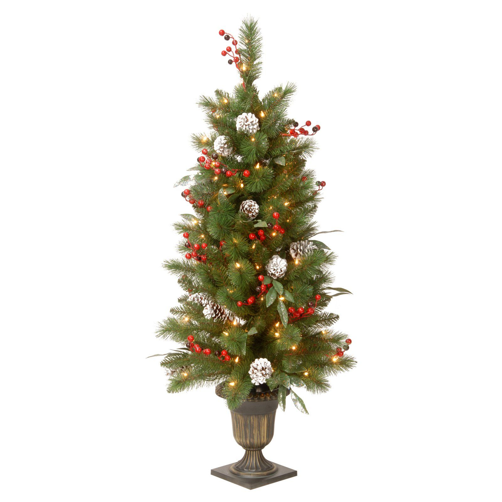 National Tree Company 4 ft. Frosted Pine Berry Pre Lit