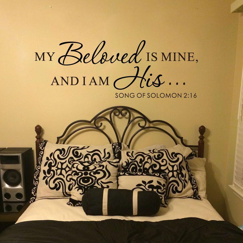 Bible Verse Wall Decal My Beloved Solomon Quote Romantic Vinyl Home ...