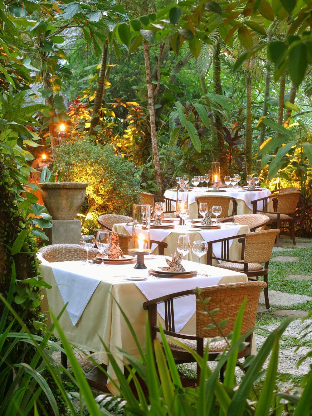 Indonesian Table Setting Mozaic Restaurant Ubud Bali Bali Pinterest Restaurant