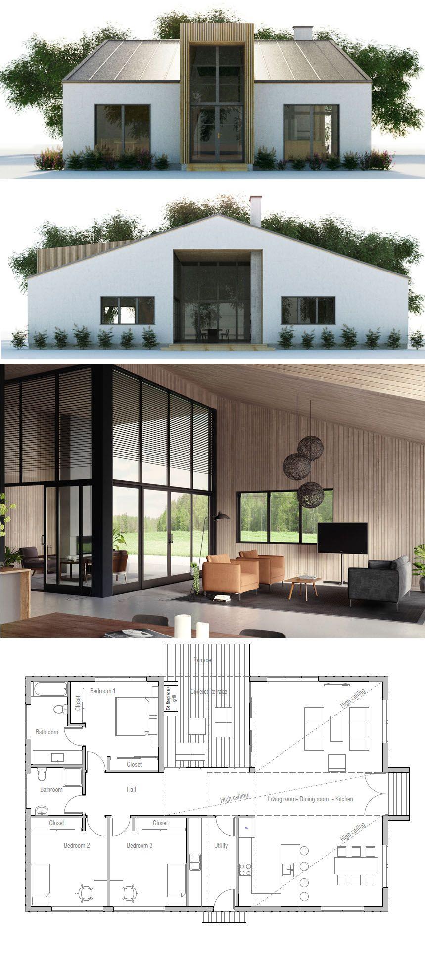 Modern Minimalist House Design Modern Mimari Kucuk Ev Planlari