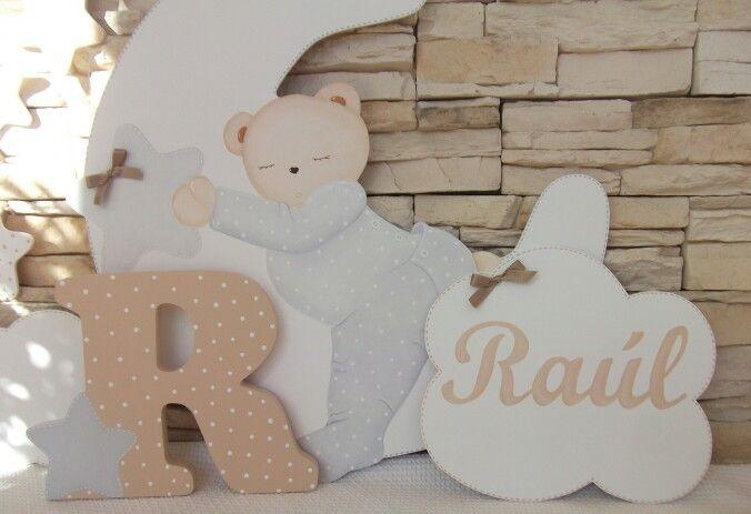 Siluetas de madera para decoraci n habitaciones de beb s - Decoracion cuarto bebe ...