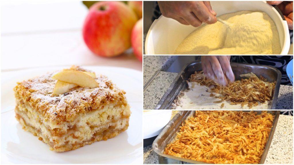 Jednoduchý vrstvený jablkový koláč so škoricou z jedného plechu, ktorý urobíte aj počas varenia obeda