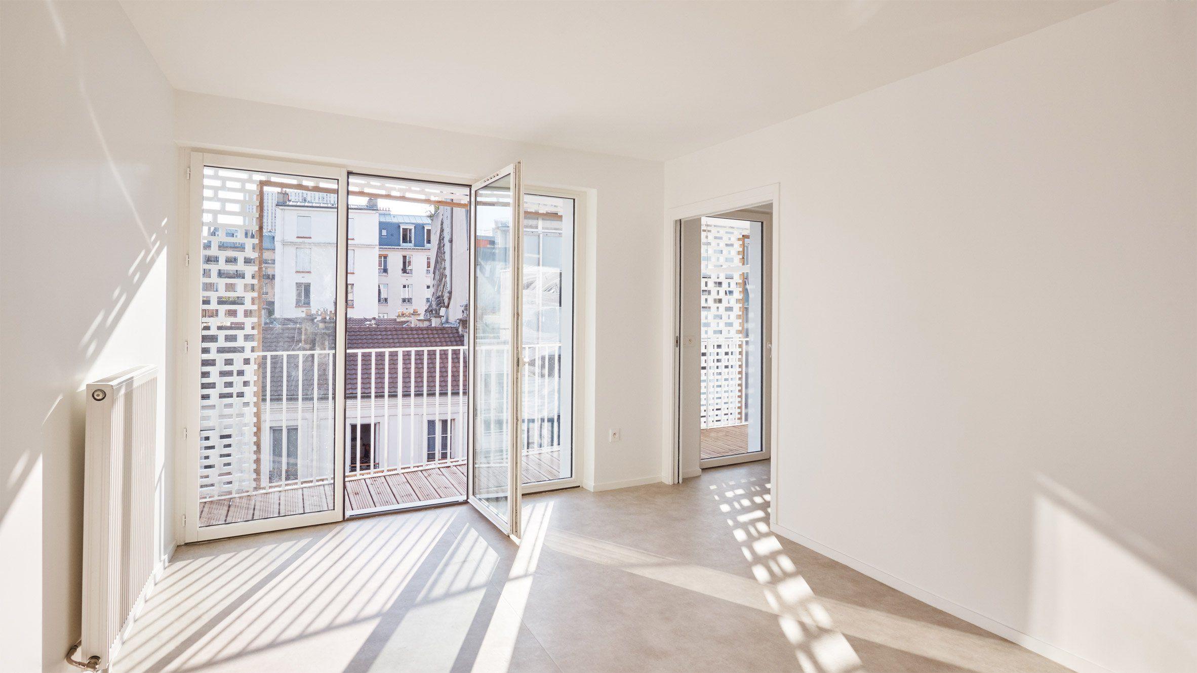 Balcony design ideas in apartment grenoble france home design and - Odile Guzy Architectes Adds Lattice Screens To Paris Apartment Block Facade
