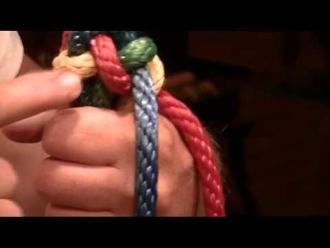 Tying A Fiador Knot Rope Halter Tie Horse Diy