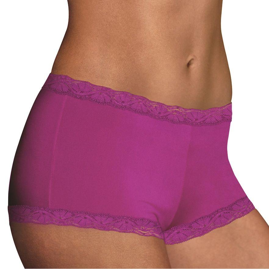 Maidenform Womens Microfiber and Lace Boyshort 40760