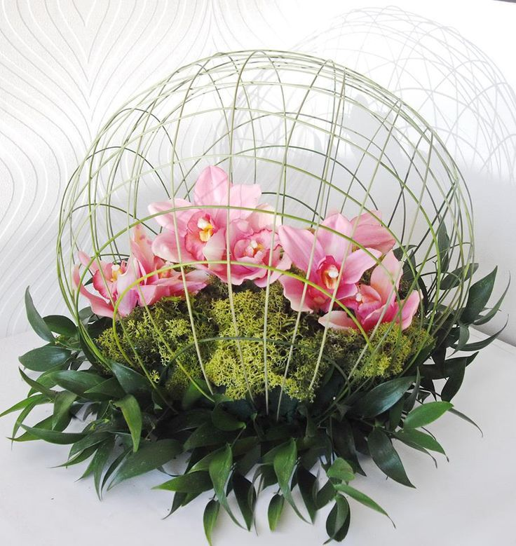 image result for table flower arrangements for 70th birthday using orchids - Floral Design Ideas