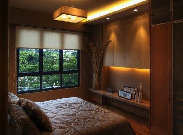 Arredare una camera da letto piccola - Camera da letto con colori decisi