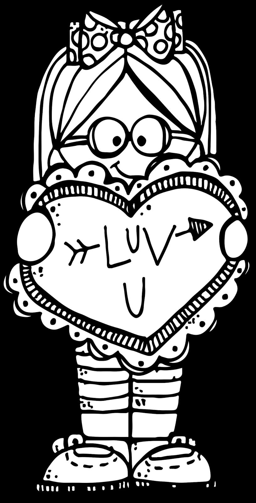 Luvu Mbf 28c 29 Melonheadz Illustrating Llc 2016 Bw Png 816 1 600 Pixels Valentines Day Clipart Melonheadz Clipart Valentine Images