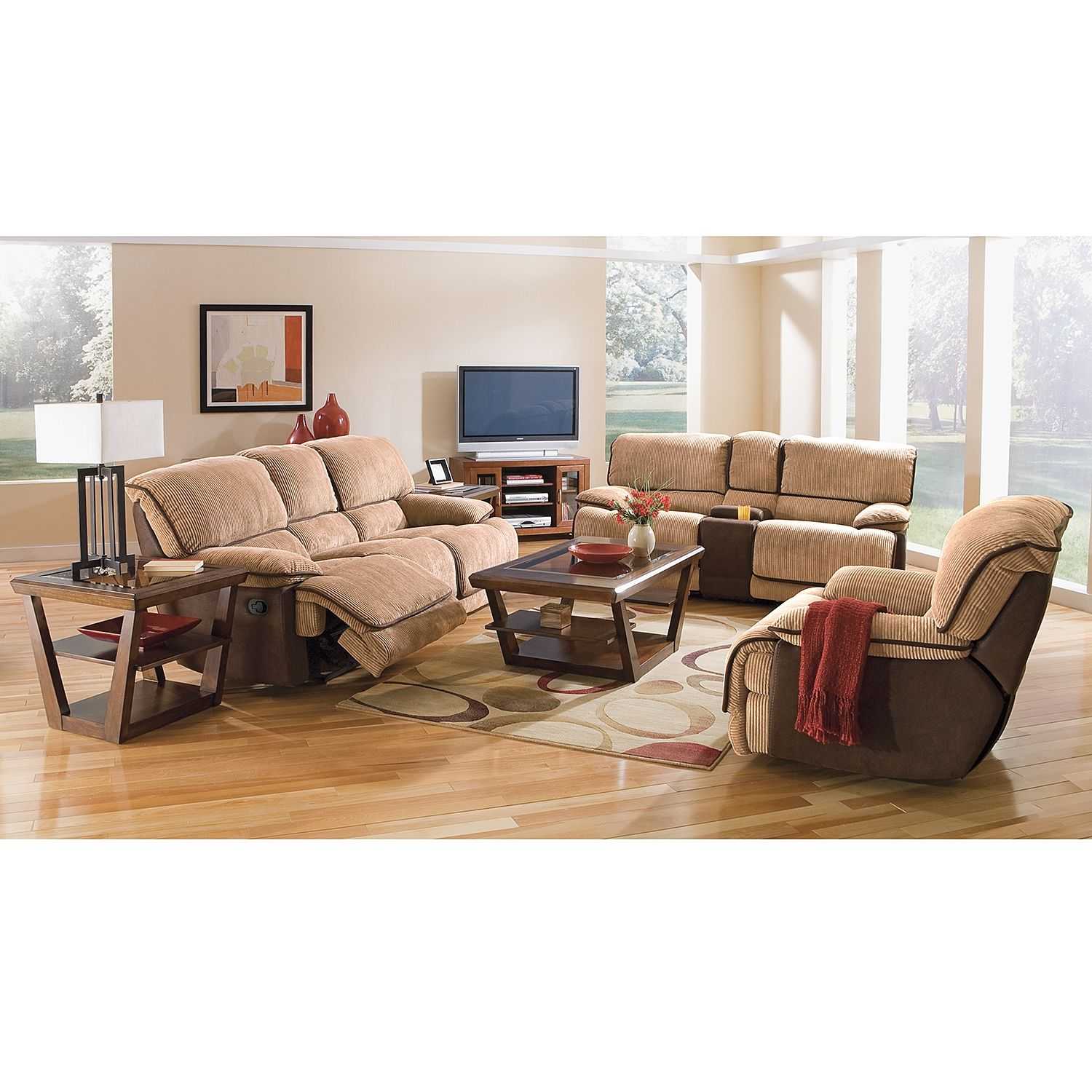Laguna Pc Reclining Living Room American Signature Furniture - American signature sofas