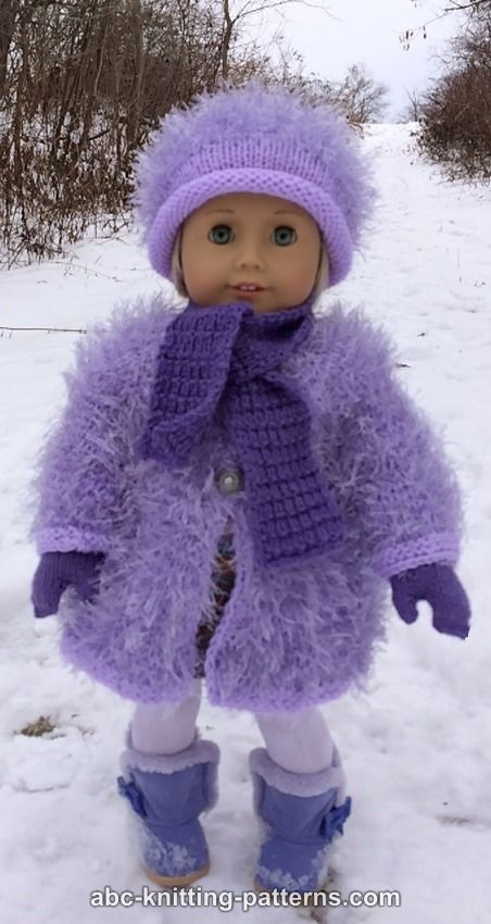 Abc Knitting Patterns American Girl Doll Winter Fun Mittens And