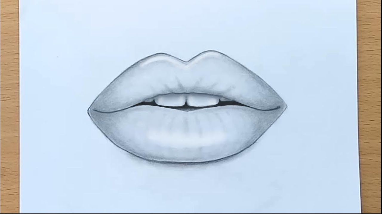 How To Draw Lips By Pencil Step By Step Lips Drawing Smile Drawing Lips Sketch