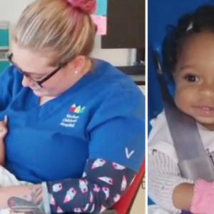 Nurse Adopts Abused Baby Girl, As She Signs Adoption