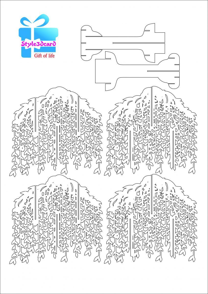 The Astounding Willow Tree Pop Up Card Kirigami Pattern 1 Kirigami For Pop Up Tree Card Template Im Pop Up Card Templates Kirigami Patterns Heart Pop Up Card