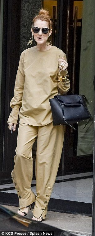 Celine wearing Celine! Get the classic look Click 'Visit' to buy now #DailyMail