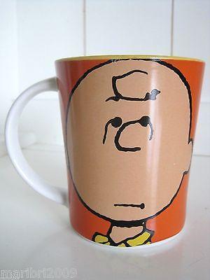 CHARLIE BROWN Good Grief Orange 15 oz Coffee Cup Snoopy Peanuts Gang