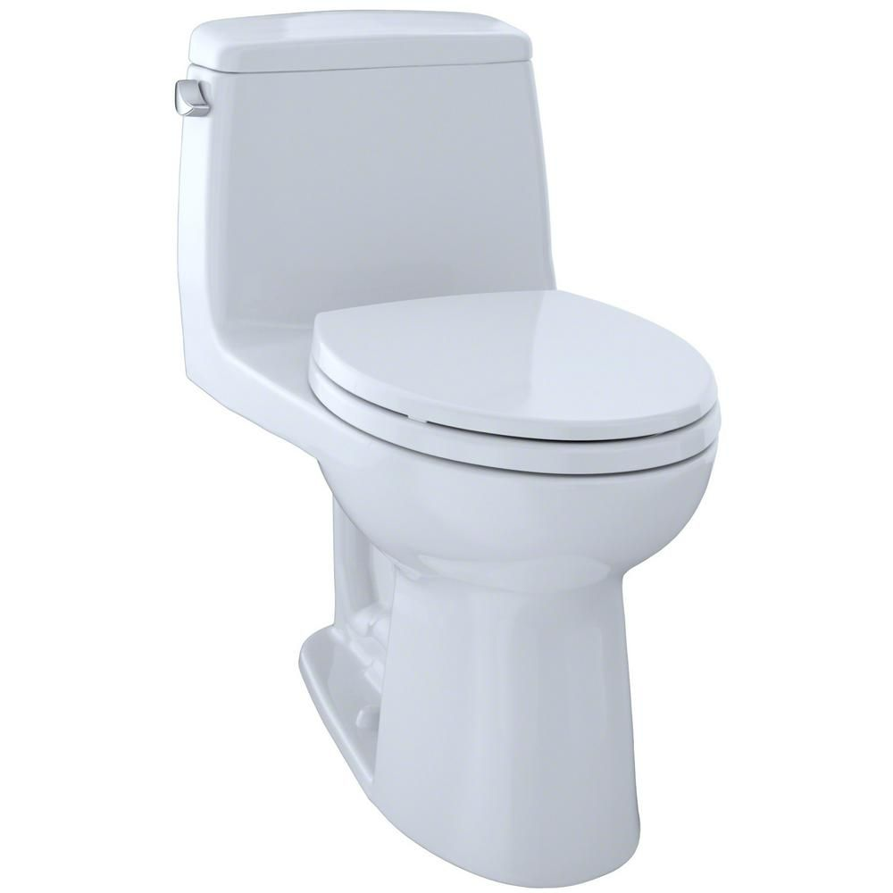 Toto Eco Ultramax 1 Piece 1 28 Gpf Single Flush Elongated Toilet With Cefiontect In Cotton White Ms854114eg 01 In 2020 Toto Toilet Toilet Modern Toilet