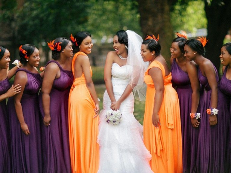A Very Seasonal Wedding Color Idea How About Purple And OrangeToday We Are
