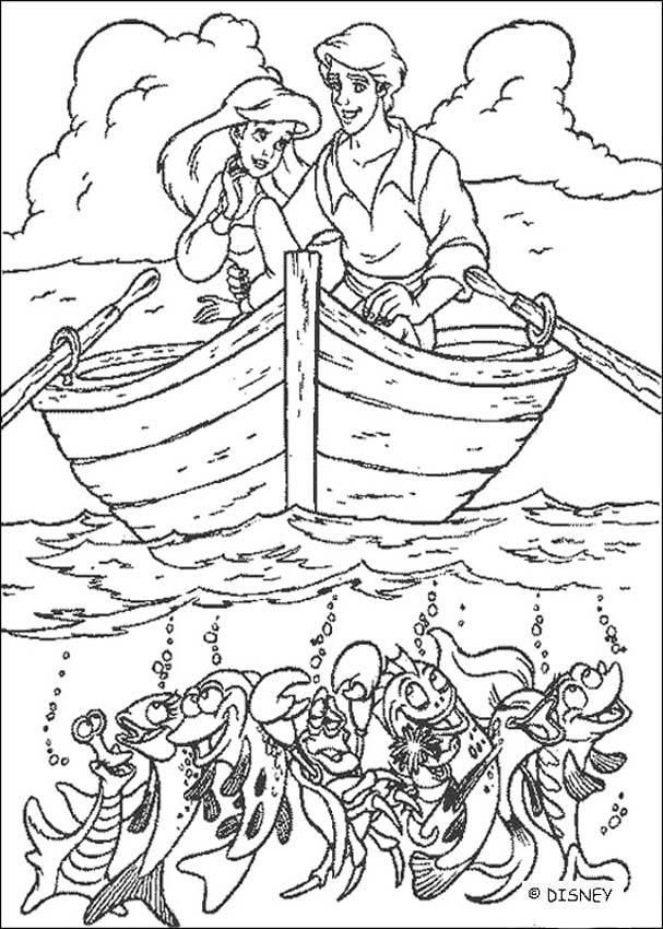 The Little Mermaid Coloring Pages Ariel And Prince Eric Ariel
