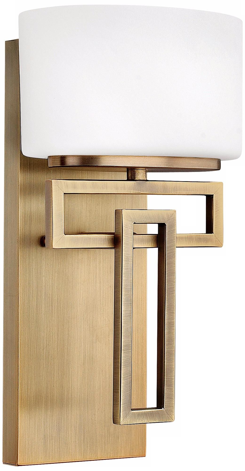 """Hinkley Lanza 12"""" High Brushed Bronze Wall Sconce - #M5836 ... on Bathroom Sconce Lights Brushed Bronze id=33120"""