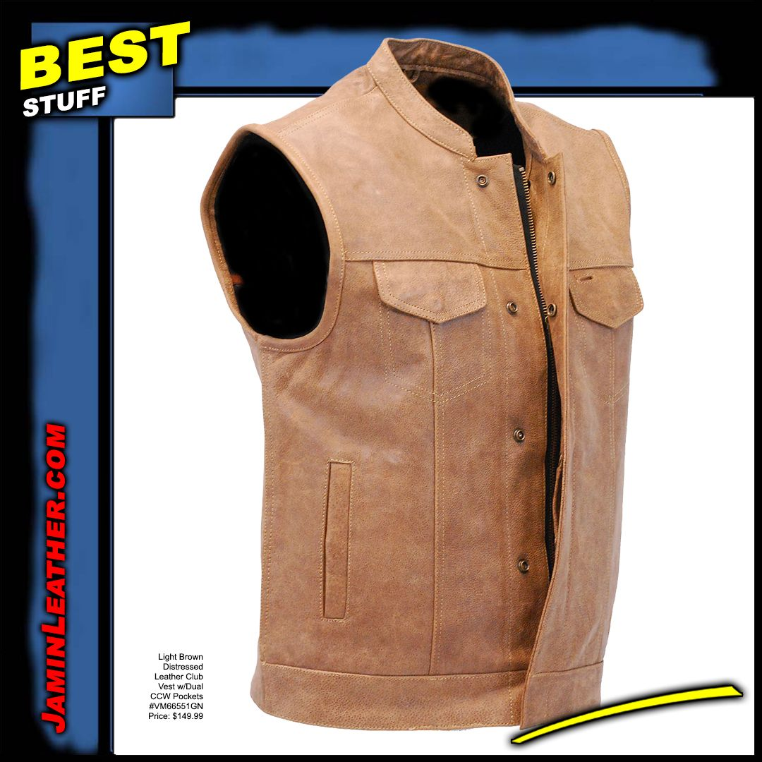 Leather Vests Distressed Leather Leather Vest Leather
