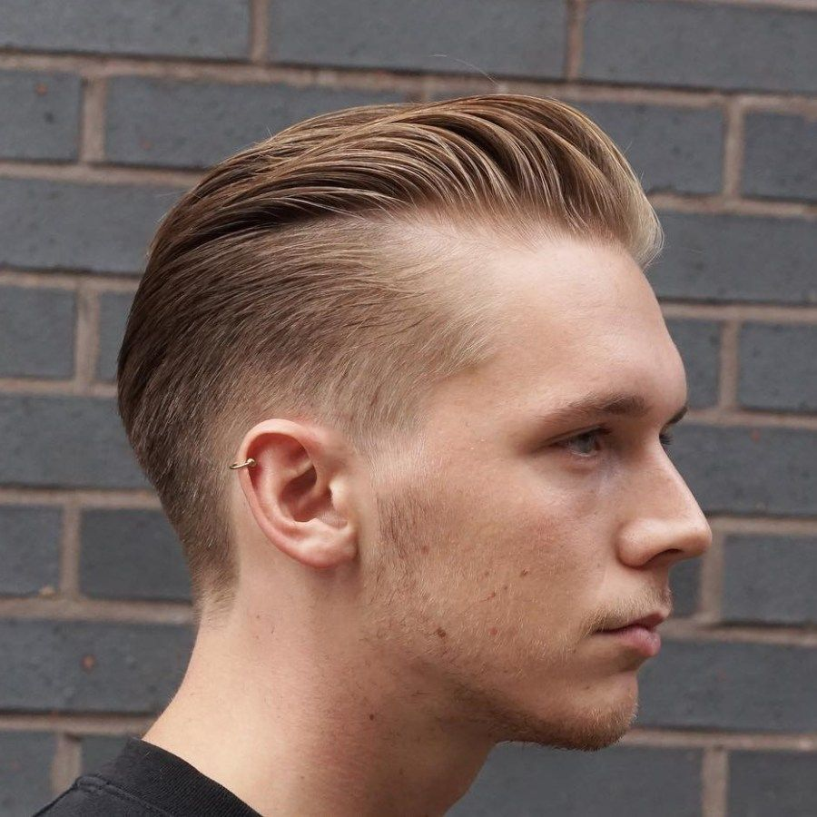 Long Top Short Sides Hairstyle For Balding Men Balding Mens Hairstyles Haircuts For Balding Men Hairstyles For Receding Hairline