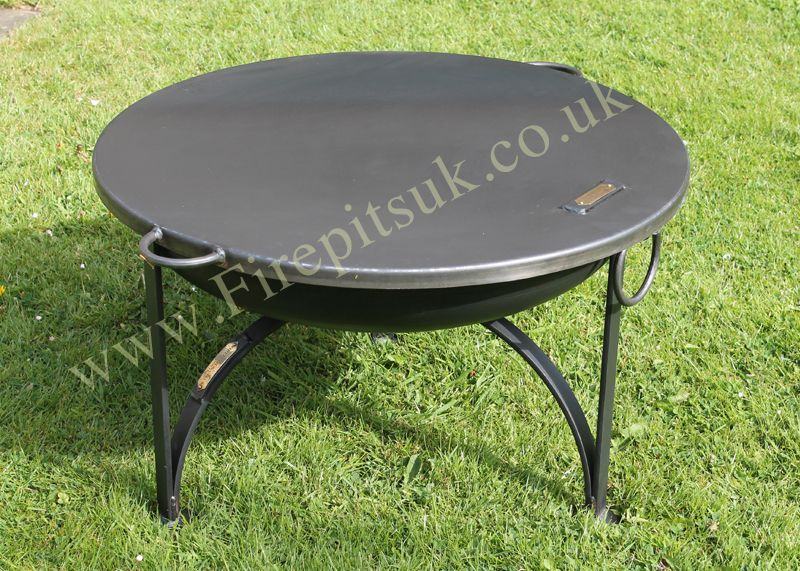 Firepit Flat Cover Table Top Lid Fire Pit With Lid Outdoor